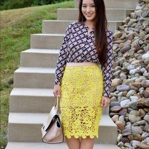 Super cute crochet yellow pencil skirt